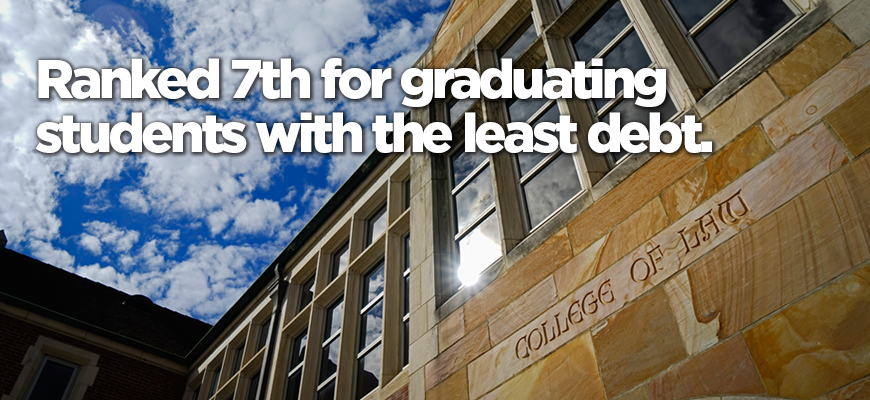 Admissions: Ranked 7th for graduating students with the least debt.
