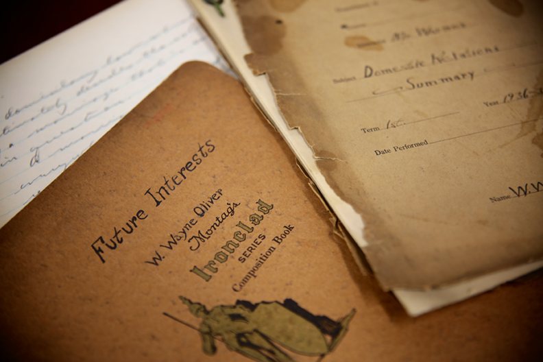 Oliver's notebooks