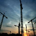 Construction at Dusk
