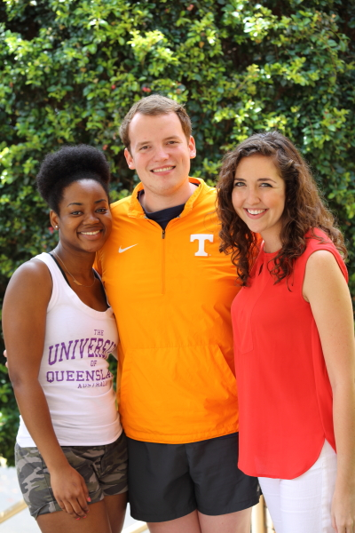 UT Law students Racquel Martin, Zach Campbell, and Hannah Hunt