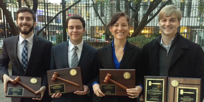 UT Law's Prince evidence competition team