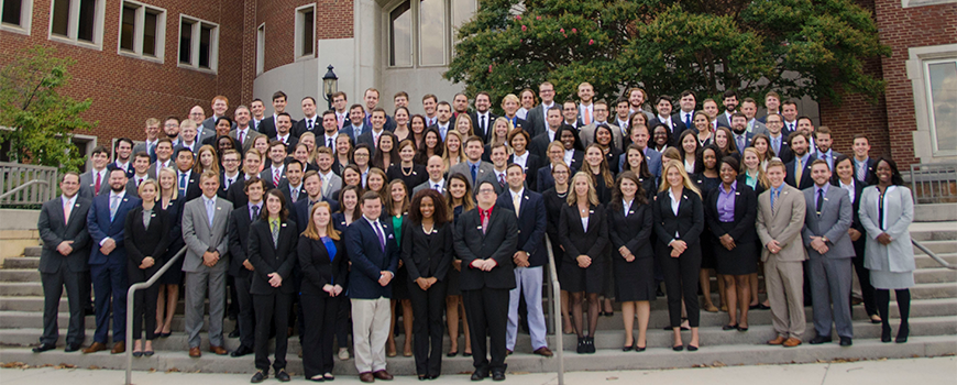 The Class of 2019 on the steps of the College of Law.