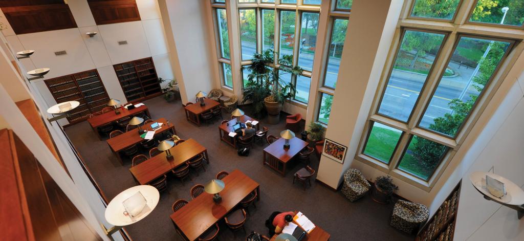 Law library interior.